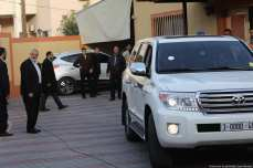 The vehicle of the Qatari Ambassador to Gaza is seen driving off in Gaza on 24 January 2019 [Mohamed Asad/Middle East Monitor]