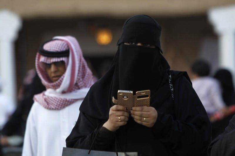 A woman using an her phone Riyadh, Saudi Arabia on 13 February 2012 [REUTERS/Fahad Shadeed]