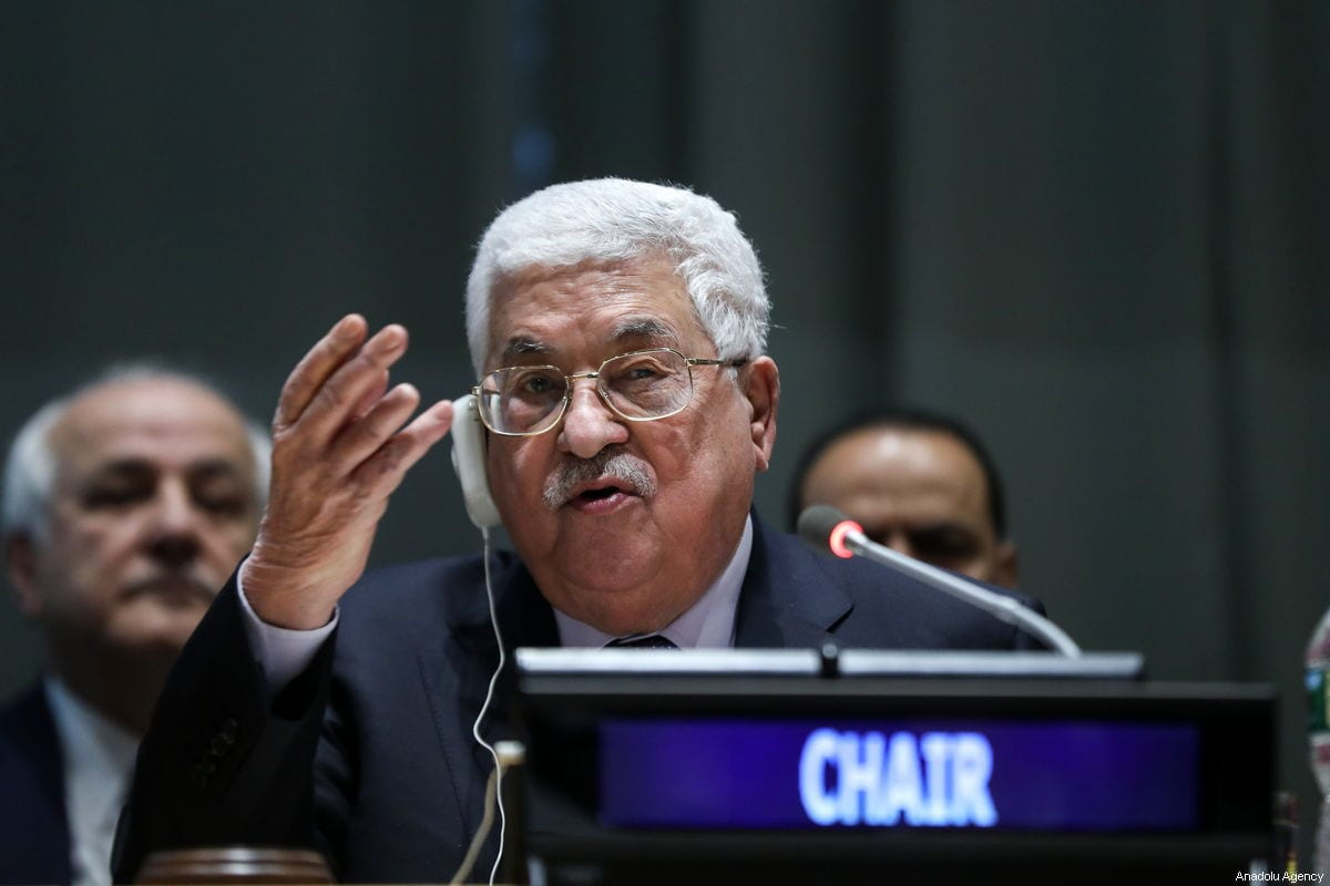 Palestinian President Mahmoud Abbas in New York, US on 15 January 2018 [Atılgan Özdil/Anadolu Agency]