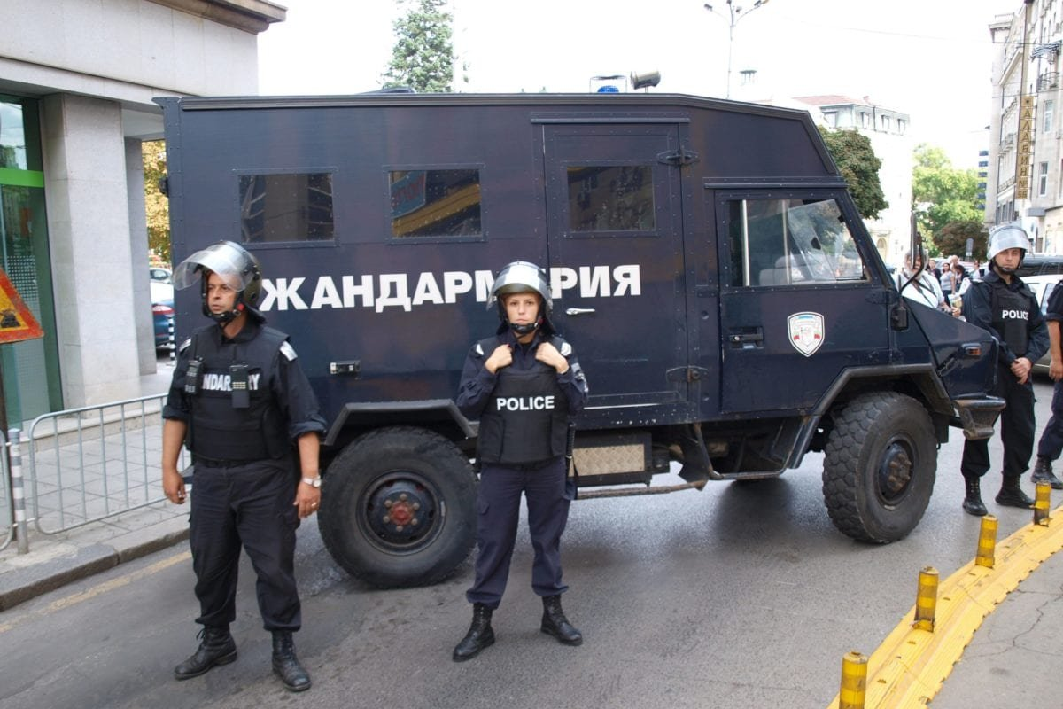 Riot police seen during an operation in Bulgaria's capital Sofia [undated / Ivanov_id / wikimedia]