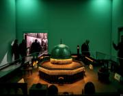 A model of Dome of the Rock is seen at Chocolate Museum, which opened its doors in 2013 and takes its visitors on an adventure starting with the history of chocolate-making, in Istanbul, Turkey on January 07, 2019. ( Ahmet Bolat - Anadolu Agency )