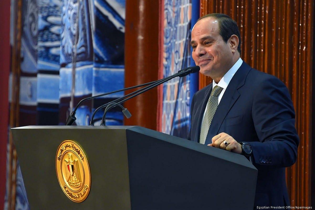 Egyptian President Abdel-Fattah Al-Sisi in Cairo, Egypt, on 11 June 2018 [Egyptian President Office/Apaimages]