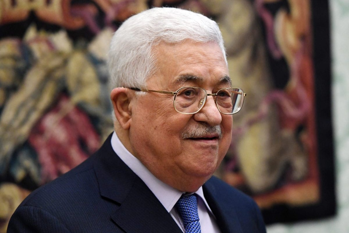 Palestinian President Mahmoud Abbas on 3 December 2018 [Vatican Pool/Getty Images]