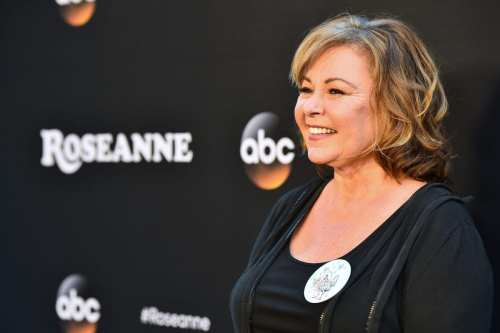 "Comedian Roseanne Barr attends the premiere of ABC's ""Roseanne"" at Walt Disney Studio Lot on March 23, 2018 in Burbank, California [Alberto E. Rodriguez / Getty Images]"