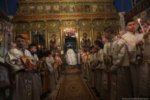 Christians in Gaza come together to celebrate Christmas, 7 January 2018 [Mohammed Asad/Middle East Monitor]