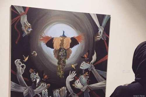 A painting called 'Stop killing my dreams' [Zarqa Parvez]