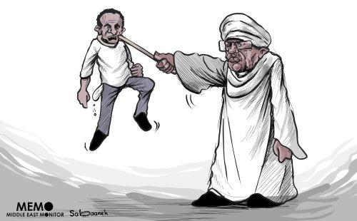 Protests in Sudan - Cartoon [Sabaaneh/MiddleEastMonitor]