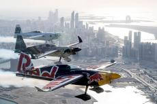 In this handout provided by Red Bull, Martin Sonka of the Czech Republic performs during a training session at the first round of the Red Bull Air Race World Championship in Abu Dhabi on 6 February 2019 [Predrag Vuckovic/Getty Images]