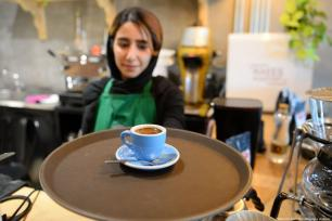 In Tehran, Turkish coffee is incredibly popular. Seen here is a cafe serving Turkish coffee to its customers in Tehran, Iran on 6 February 2019 [Fatemeh Bahrami/Anadolu Agency]