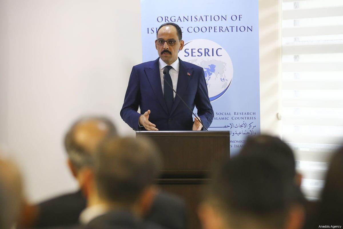Turkish Presidential spokesman Ibrahim Kalin in Ankara, Turkey on 8 February 2019 [Mustafa Kamacı/Anadolu Agency]