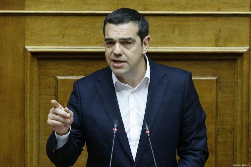 Greek Prime Minister Alexis Tsipras in Athens, Greece on 8 February 2019 [Ayhan Mehmet/Anadolu Agency]
