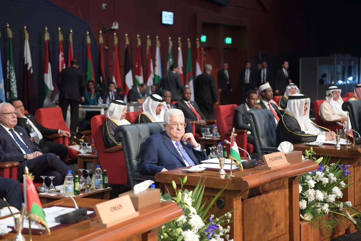 "Palestinian President Mahmoud Abbas attends the EU-Arab League summit held under the theme ""Investing in Stability"" on 24 February 2019 in Sharm el Sheikh, Egypt. [PALESTINIAN PRESIDENCY / HANDOUT - Anadolu Agency]"