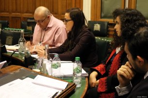 A seminar held in the Palace of Westminster by Europal Forum to discuss Israel's Jewish Nation-State Law in London, UK on 26 February 2019 [Jehan Alfarra/Middle East Monitor]