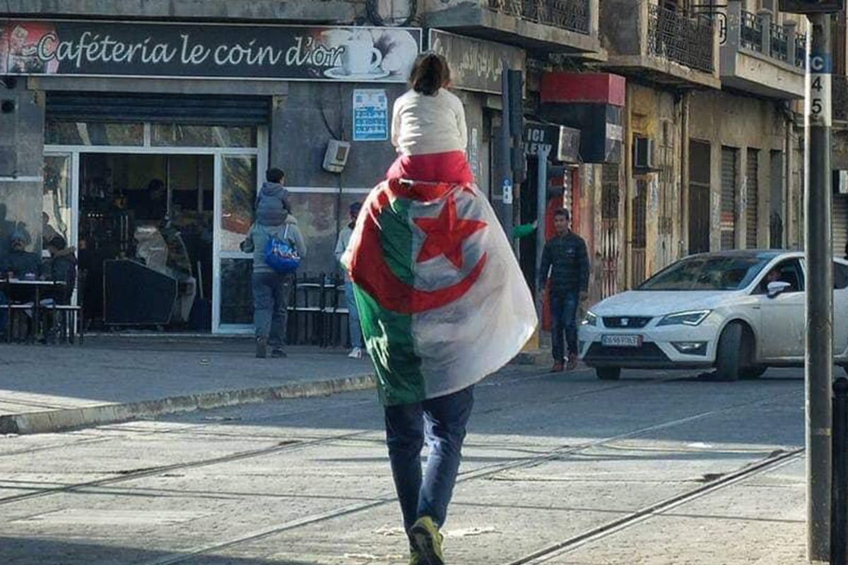 Algerians take the streets in protests against Bouteflika running for a 5th term on 25 February 2019 [Twitter]