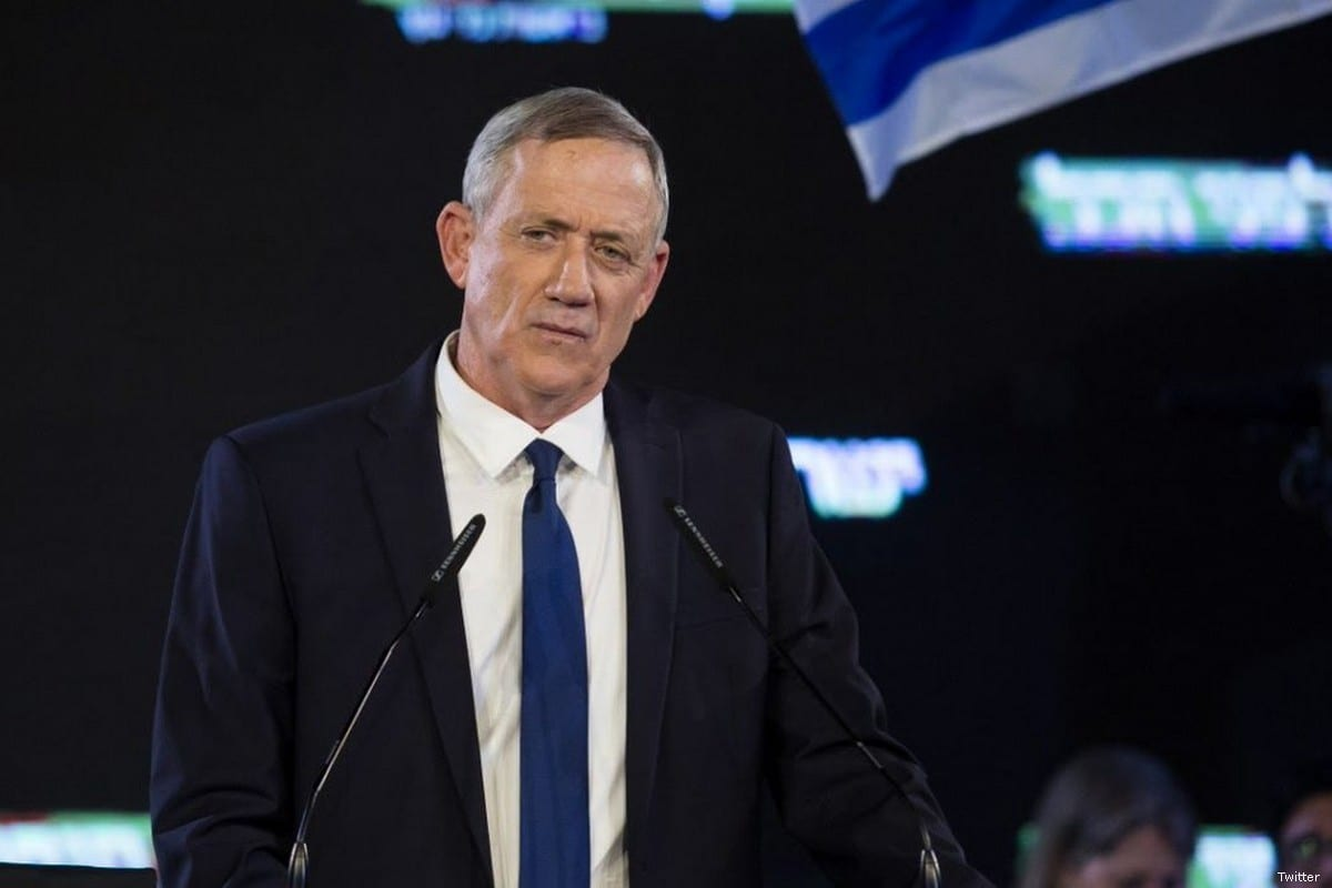 Benny Gantz, former Israeli military chief of staff in Tel Aviv on 29 January 2019 [Amir Levy/Getty Images]