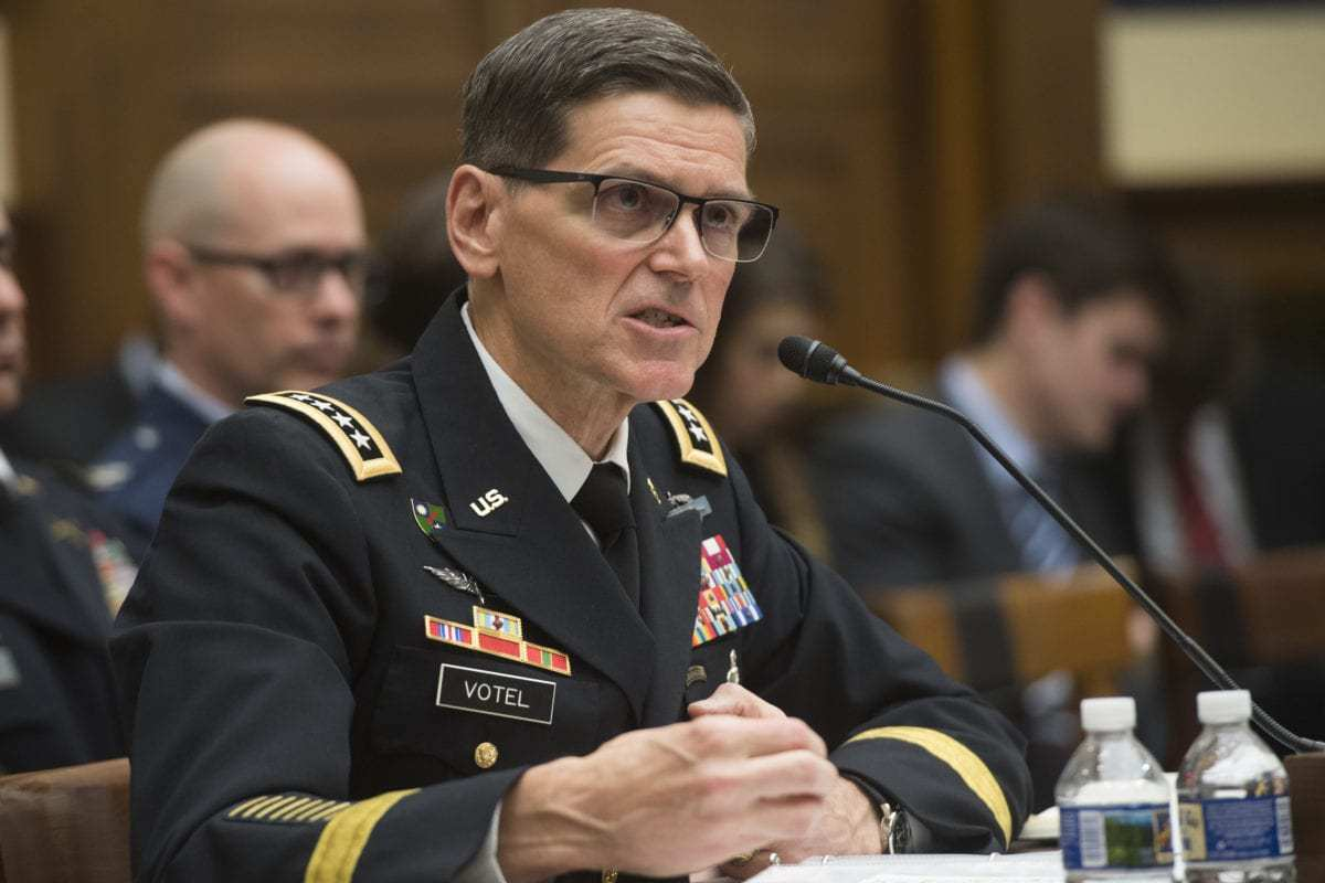 US Army General Joseph Votel, commander of the US Central Command, testifies during a House Armed Services Committee hearing on Capitol Hill in Washington, DC on 27 February 2018. [SAUL LOEB / AFP PHOTO / Getty Images]