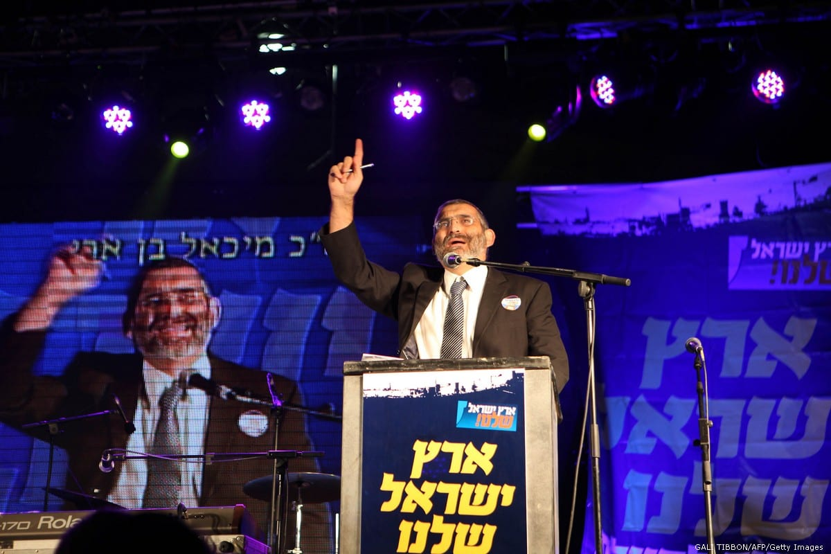 Michael Ben Ari, the leader of the Jewish Power party on 23 December 2010 [GALI TIBBON/AFP/Getty Images]