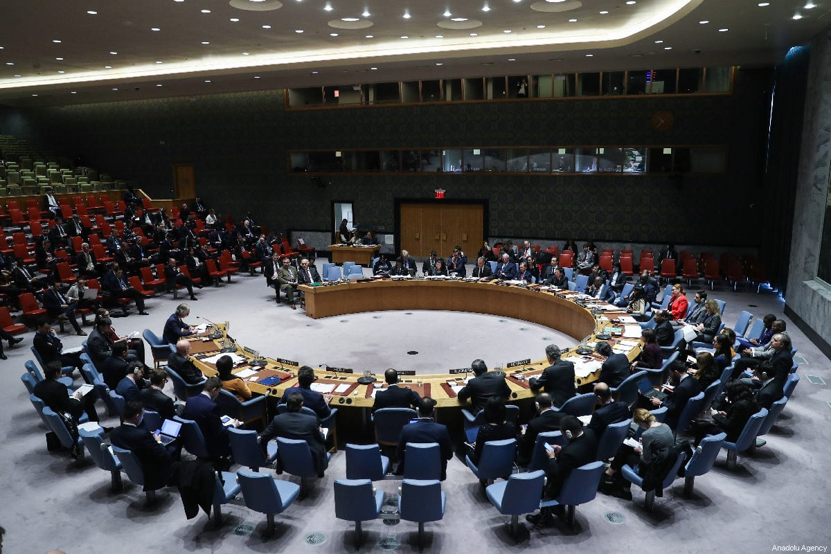 A general view of UN Security Council meeting on the situation in Middle East at the United Nations Headquarters in New York, United States on February 28, 2019 [Atılgan Özdil / Anadolu Agency]