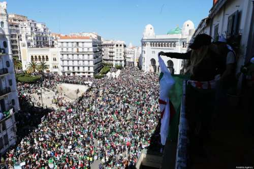 Thousands of Algerians protest against President Abdelaziz Bouteflika's decision this week to postpone presidential elections in Algiers, Algeria on 15 March 2019 [Farouk Batiche/Anadolu Agency]
