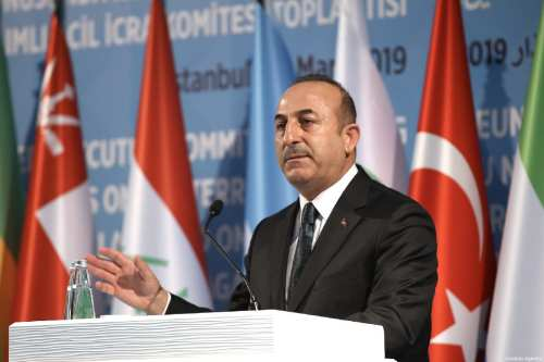 Turkish Foreign Minister Mevlut Cavusoglu on 22 March, 2019 [Fatih Aktaş/Anadolu Agency]