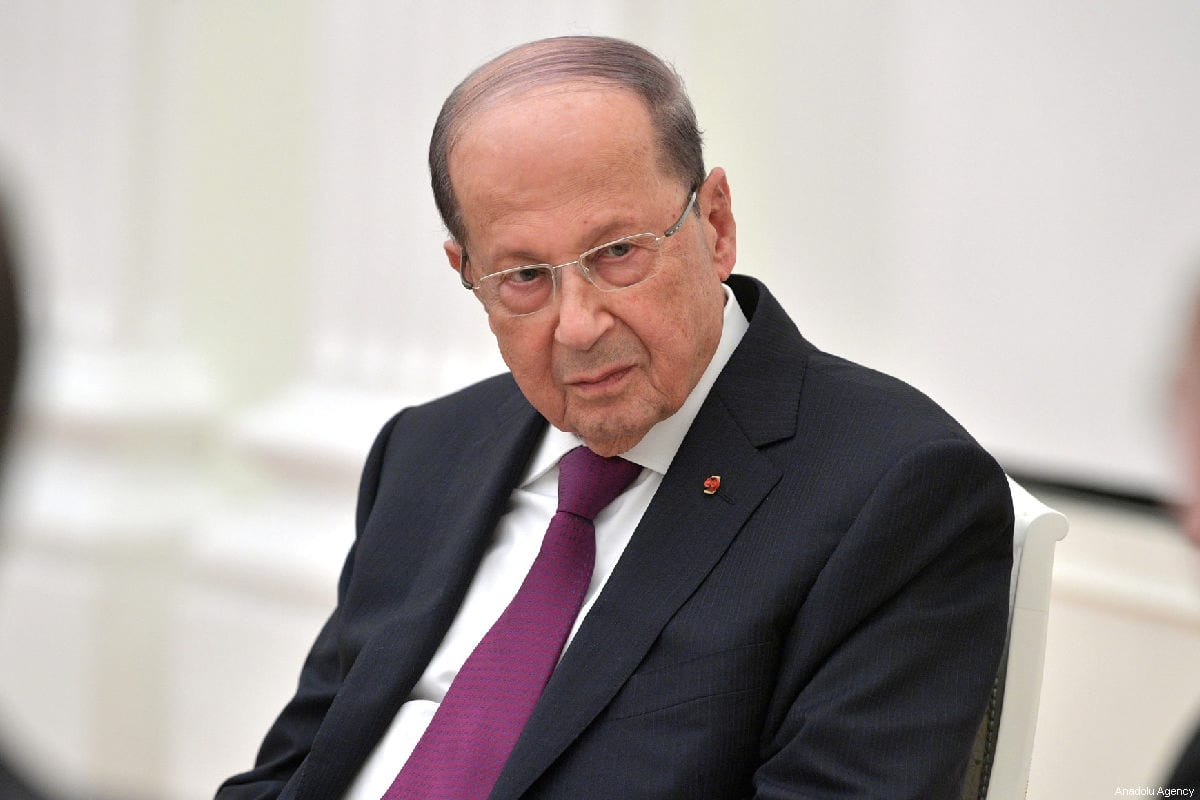 Lebanon's President Michel Aoun attends a meeting with Russia's President Vladimir Putin (not seen) at Moscow's Kremlin in Moscow, Russia on March 26, 2019. [Russian Presidential Press and Information Office - Anadolu Agency]
