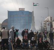Birzeit students in protest at Israeli violations against their lecturers
