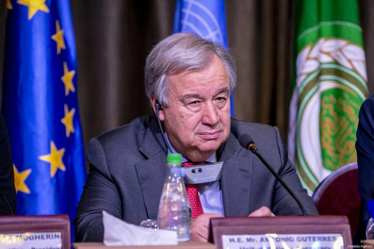 The United Nations Secretary-General António Guterres in Tunis, Tunisia on 30 March 2019 [Yassine Gaidi/Anadolu Agency]