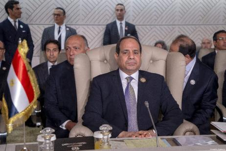 Egyptian President Abdel Fattah al-Sisi attends the opening session of the 30th Arab League Summit in Tunis, Tunisia on 31 March, 2019 [Yassine Gaidi/Anadolu Agency]
