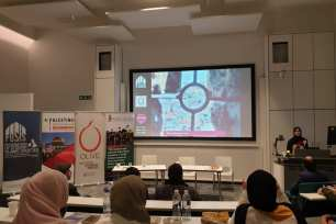 A student conference on Palestine in London, UK on 16 March 2019