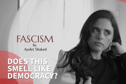 Israel Justice Minister causes a stink with election video