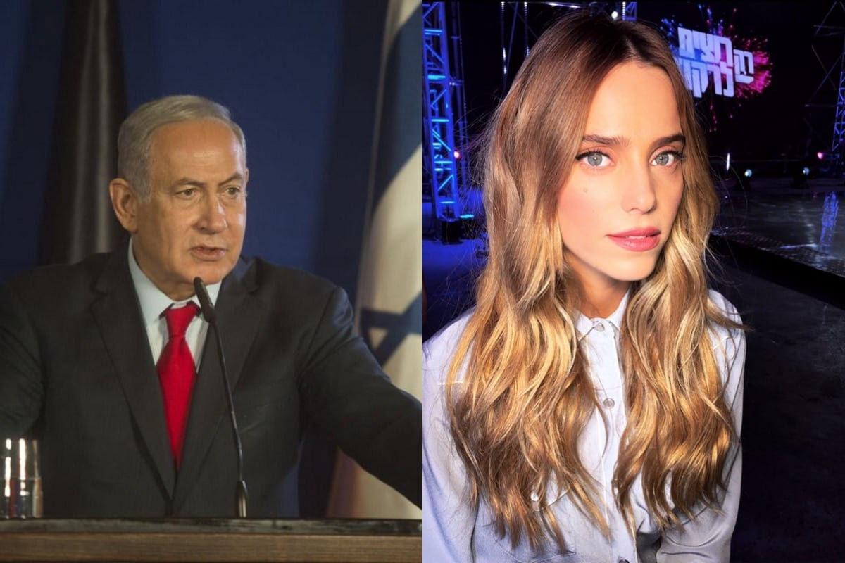 Israeli actor Rotem Sela [Wikipedia] and Israeli Prime Minister, Benjamin Netanyahu [Getty Images]
