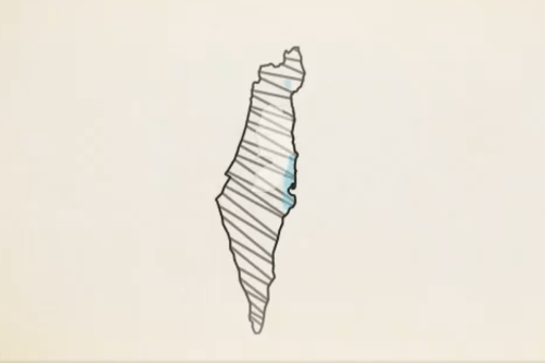Screenshot of a video released by the Israeli embassy to the UK has erased the occupied Palestinian territories (oPt), showing the whole of historic Palestine as Israel [Twitter]