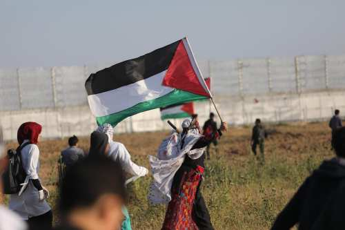 Great March of Return protest in Gaza on 19 April 2019 [Mohammed Asas/Middle East Monitor]