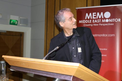 Professor Oren Yiftachel at MEMO's 'Present Absentees: Palestinian Citizens of Israel & the Nation-State Law' conference held in London on April 27, 2019 [Middle East Monitor]