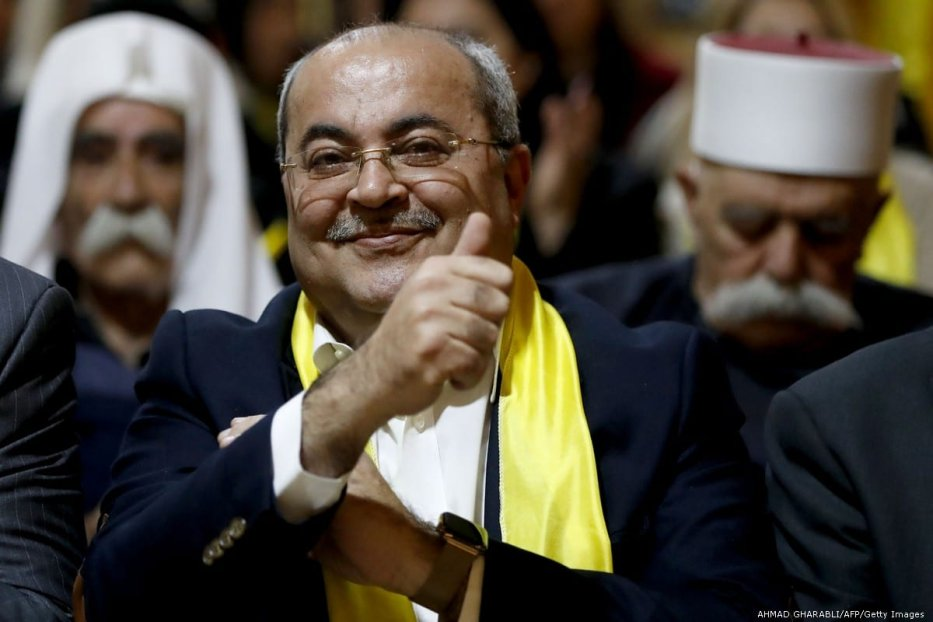 Israeli-Arab member of the Knesset (Israeli parliament) and leader of the Arab Movement for Change Ahmed Tibi on 8 February 2019 [AHMAD GHARABLI/AFP/Getty Images]