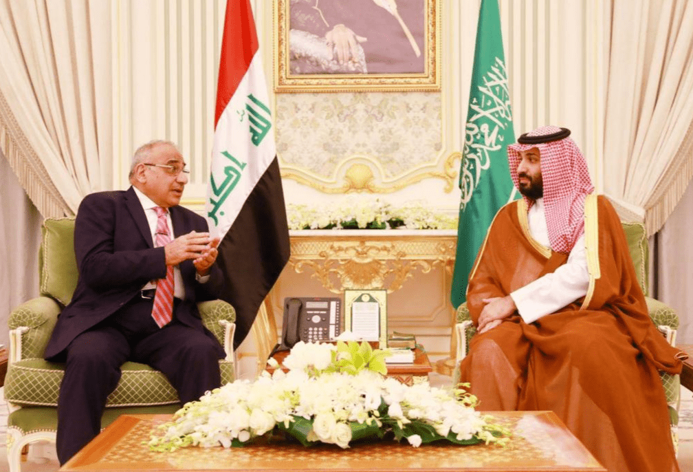 Iraqi Prime Minister Adel Abdul Mahdi met with Saudi Arabia's Crown Prince Mohammed Bin Salman on 17 April, 2019 [Twitter]