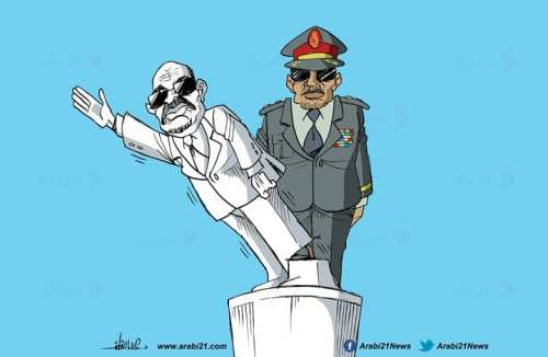 Sudan's military removes al-Bashir - Cartoon [Arabi21]
