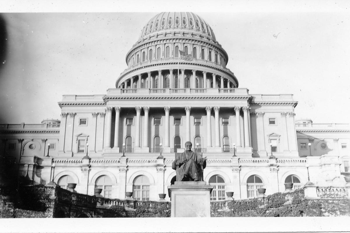 The United States Capitol Building photographed in the decade following World War II, 1945 [Stuart Lutz/Gado/Getty Images]