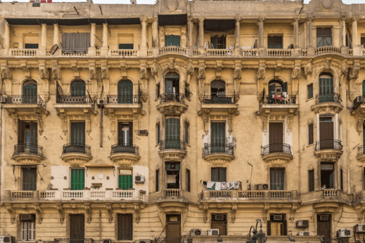 An apartment building in Cairo. Preservationists are dusting off historic buildings to highlight the city's rich architectural heritage [Twitter]