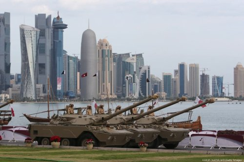 A general view showing armoured vehicles in Doha. Qatar on 18 December 2012 [KARIM JAAFAR/AFP/Getty Images]