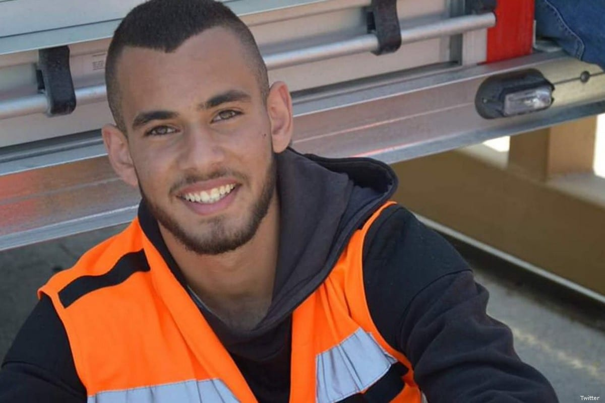 Volunteer Palestinian paramedic Sajed Mizher, was shot by Israeli forces in the southern occupied West Bank city of Bethlehem on 27 March 2019 [Twitter]