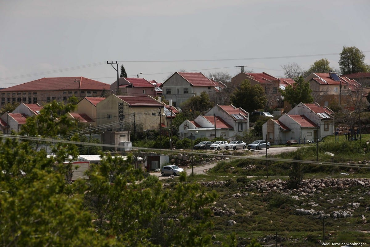 View of a Jewish settlement near Nablus in the West Bank on 2 April 2019 [Shadi Jarar'ah/Apaimages]