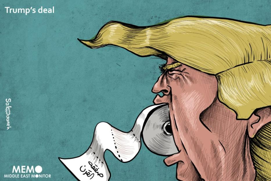 Trump's Deal - Cartoon [Sabaaneh/MiddleEastMonitor]