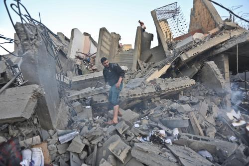 Gaza after Israeli strikes on 5 May, 2019 [Mohammed Asad/Middle East Monitor]