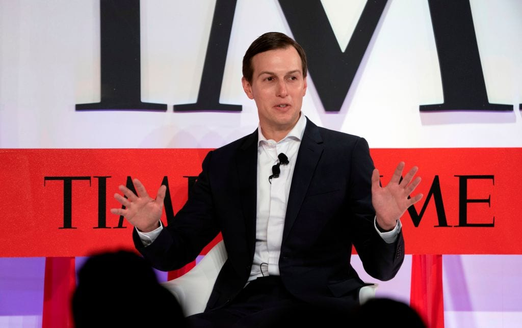 Senior Advisor to the President Jared Kushner speaks during the Time 100 Summit event 23 April, 2019 in New York [DON EMMERT/AFP/Getty Images]