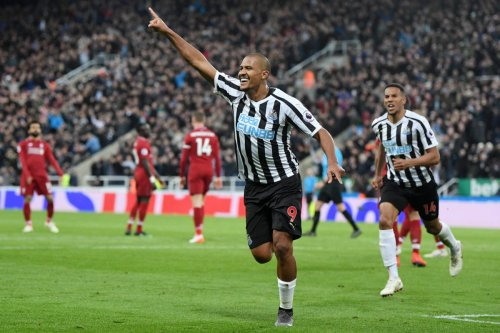 Salomon Rondon of Newcastle United celebrates after scoring his team's second goal during the Premier League match between Newcastle United and Liverpool FC at St. James Park on 4 May 2019 in Newcastle upon Tyne, United Kingdom. [Laurence Griffiths/Getty Images]