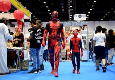 Visitors attend Middle East Film & Comic Con on 6 April, 2018 in Dubai, United Arab Emirates [Tom Dulat/Getty Images]