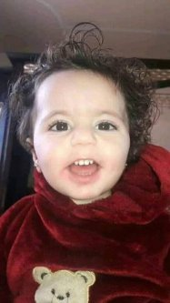 14-month -old Siba Abu Arar was killed when Israeli air stike struck her family's home in the Gaza Strip on 4 May 2019, her pregnant mother was also killed in the attack