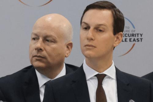 Jared Kushner, (R) Senior Advisor to US President Donald Trump, and Jason Greenblatt, advisor to Trump on Israel on 14 February, 2019 in Warsaw, Poland [Sean Gallup/Getty Images]