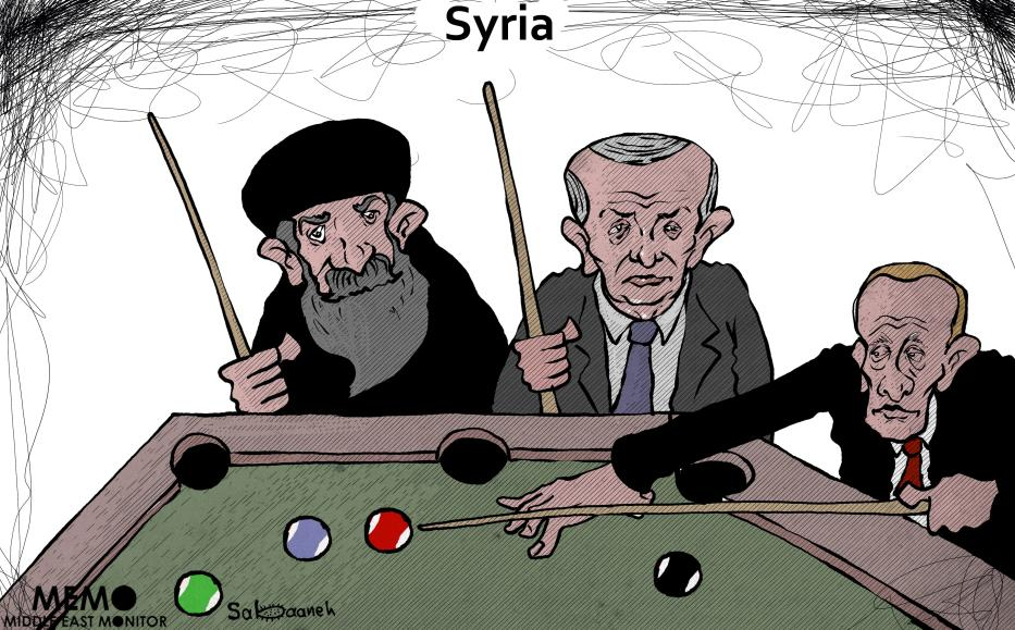Which county has the fate of Syria in it's hand? - Cartoon [Sabaaneh/MiddleEastMonitor]